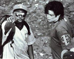 Spike Lee et Michael Jackson clip tournage