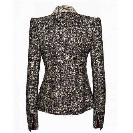 veste-tailleur-croisee-femme-vue-de-dos-noir-et-beige-or-made-in-france-burgandi-paris