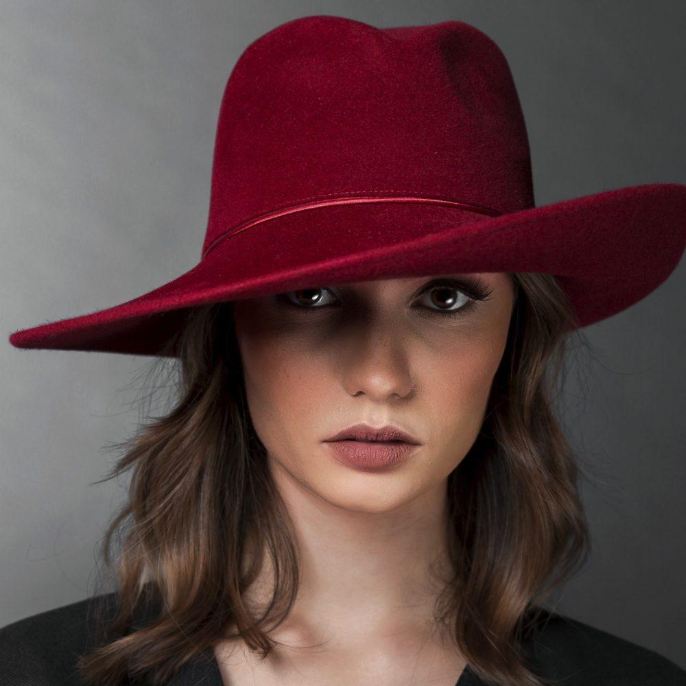 Chapeau rouge hermes Bonnie chic elegant collection BURGANDI PARIS
